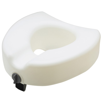 Medline+Raised+Toilet+Seat+With+Lock+MDS80314