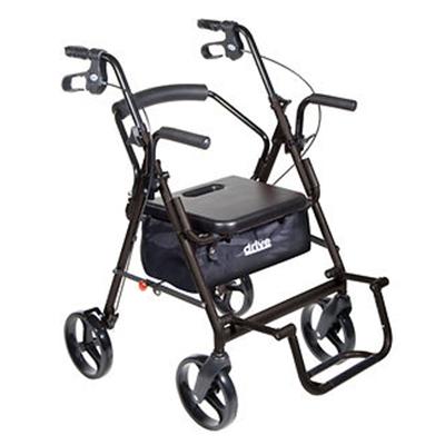 Drive-Medical-Duet-Transport-Wheelchair-Chair-Rollator-Walker-
