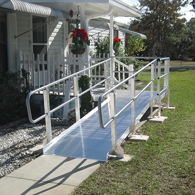 Pvi modular xp ramp med emporium for Prefab wheelchair ramp